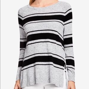 Vince Camuto Striped Tunic Sweater Gray sz. Large